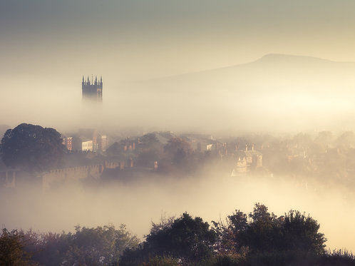"Ludlow Haze, 5""x7"" Greetings Cards. PACK OF 9"