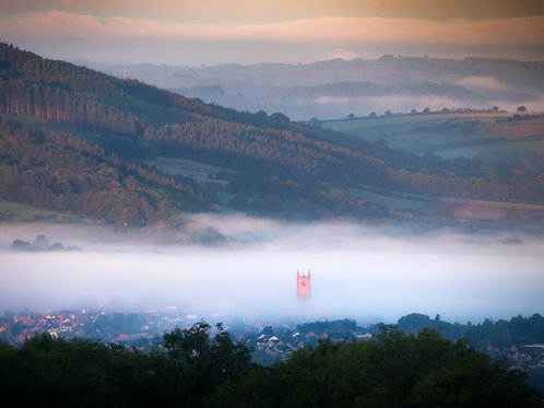 """Ludlow Misty Spires, 5""""x7"""" Greetings Cards. PACK OF 9"""