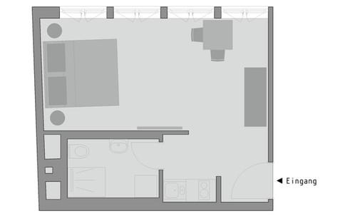 Grundriss, cosy grey apartment 'comfort'