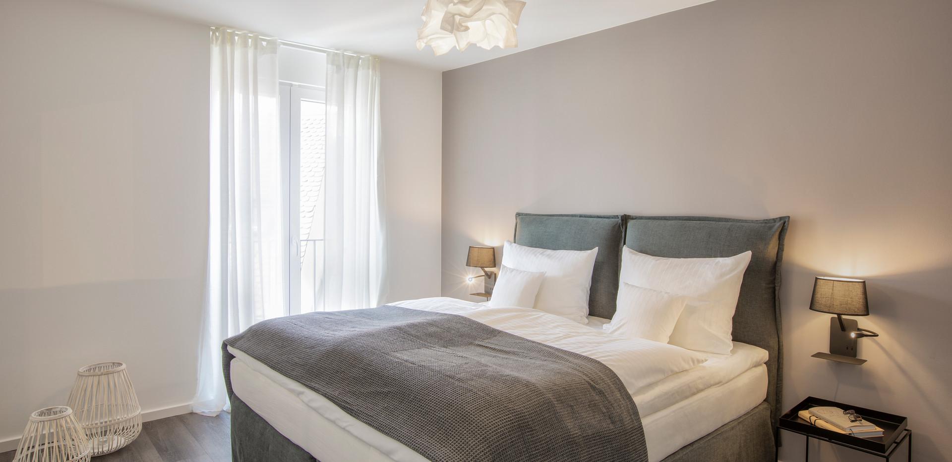 cosy grey apartment 'comfort - double'