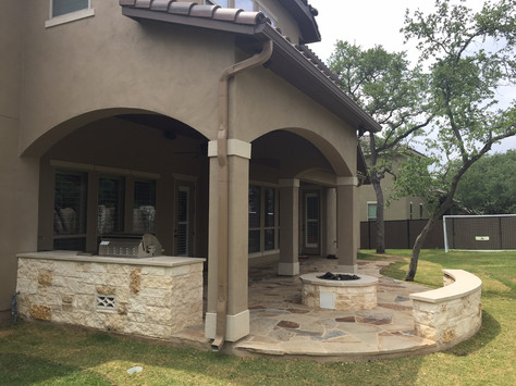 Hardscapes, Patios, and Fire pit installation by VHS Landscaping