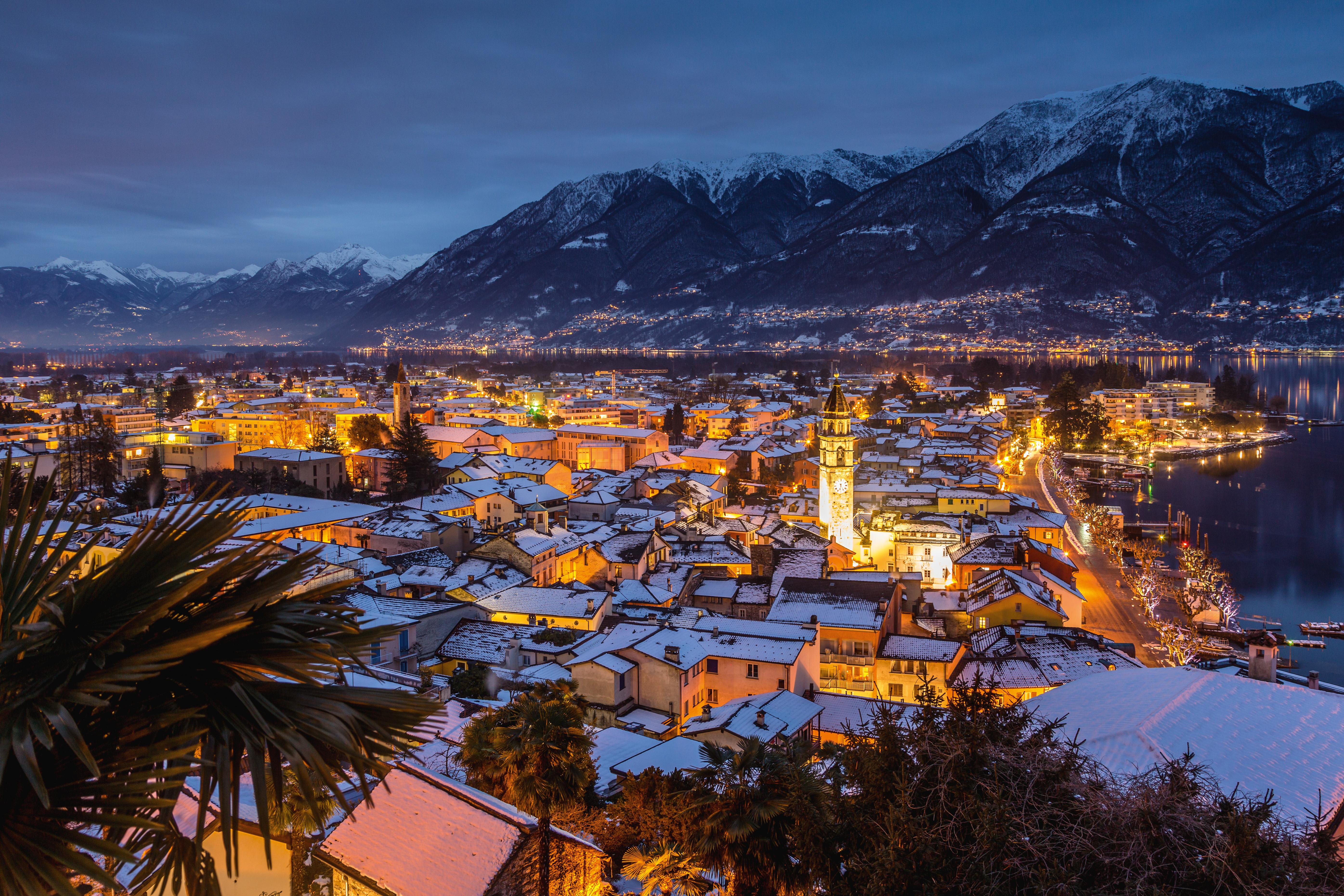 Locarno Winterlandschaft