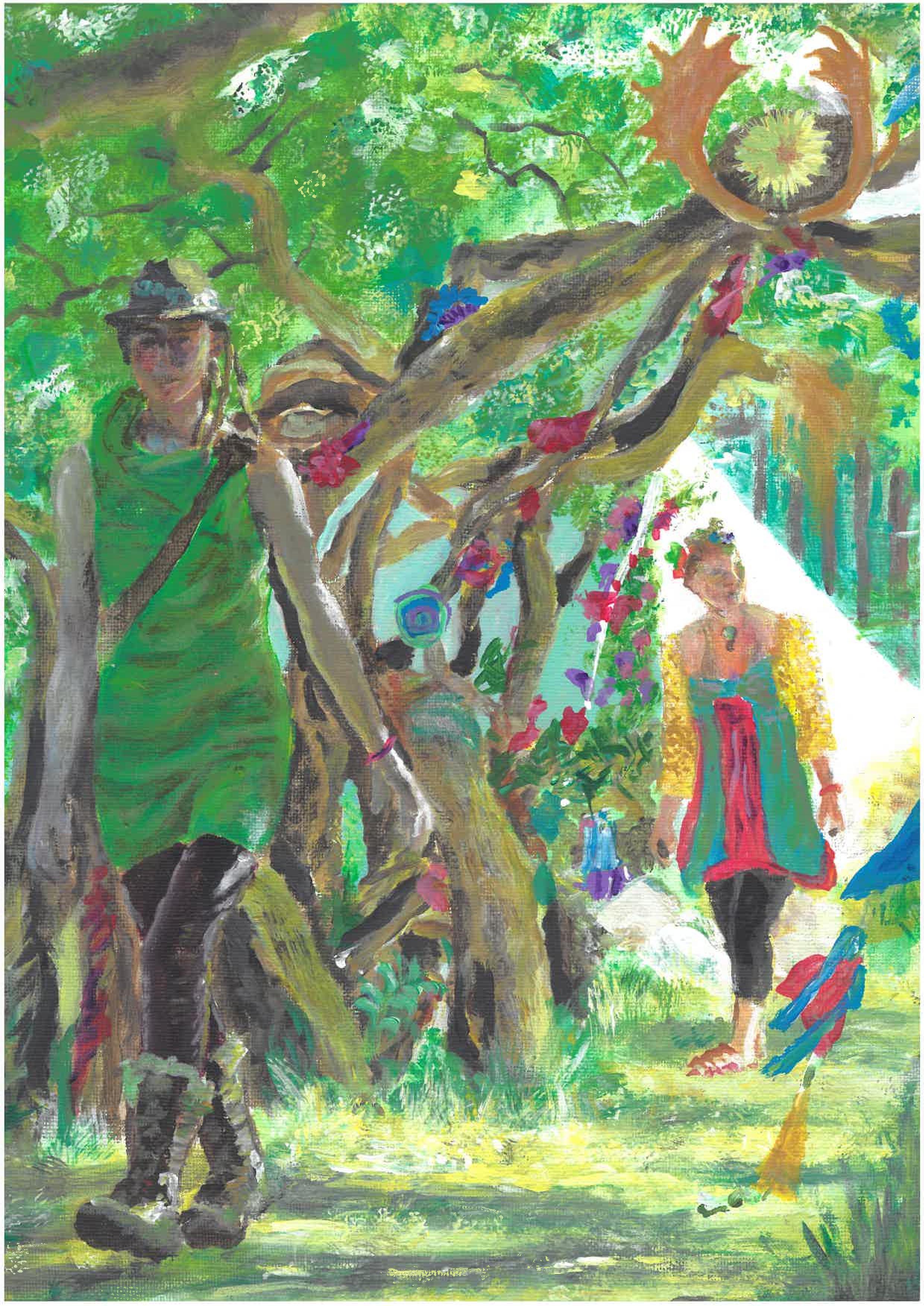 Green Gathering flier art