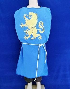 Tabar cœur de lion bleu/or 100% coton