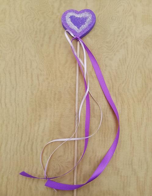 Baguette magique cœur violet