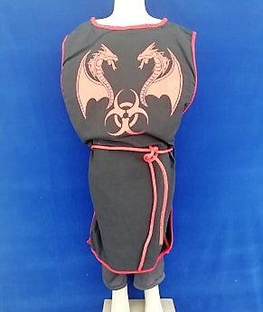 Tabar dragon noir/rouge 100% coton