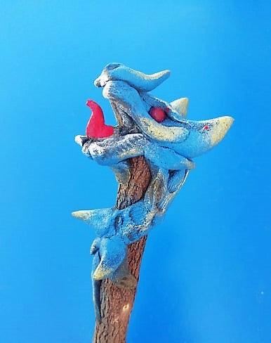 Crayon dragon bleu