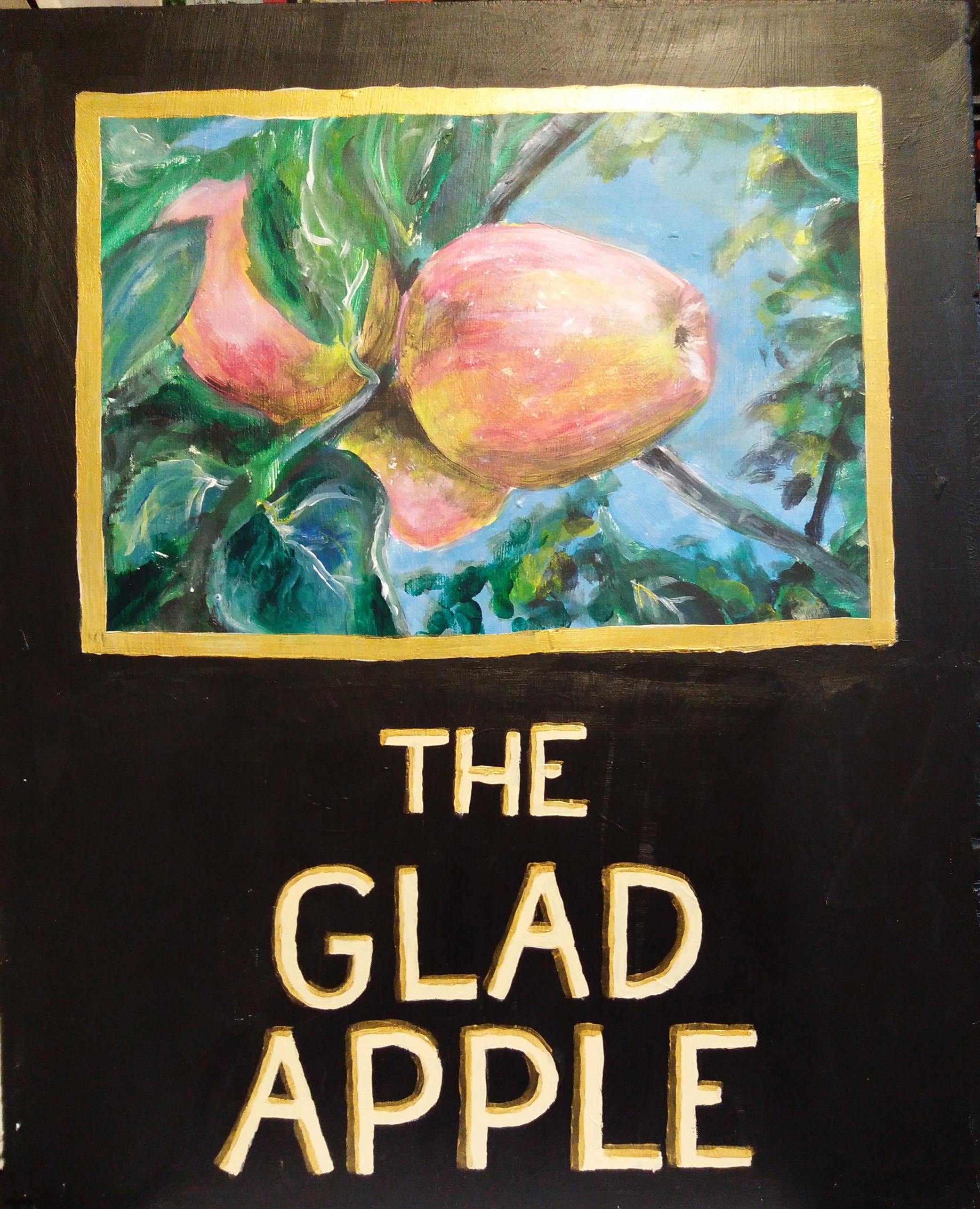 Glad Apple sign