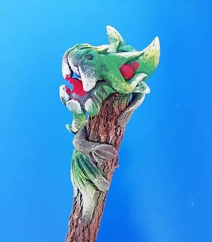 Crayon dragon vert