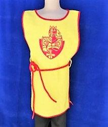 Tabar chevalier jaune/rouge 100% coton