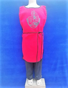 Tabar chevalier rouge/noir 100% coton