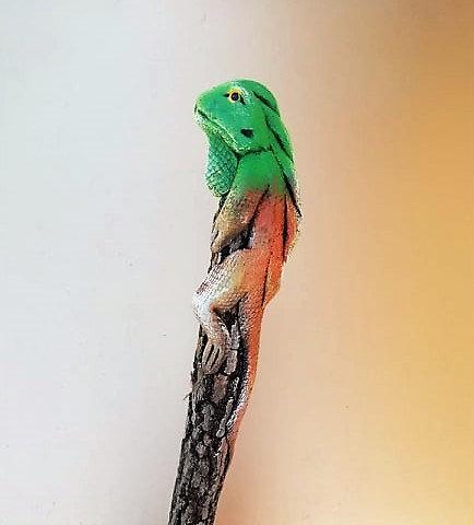 Crayon iguane vert
