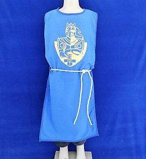 Tabar chevalier bleu/or 100% coton