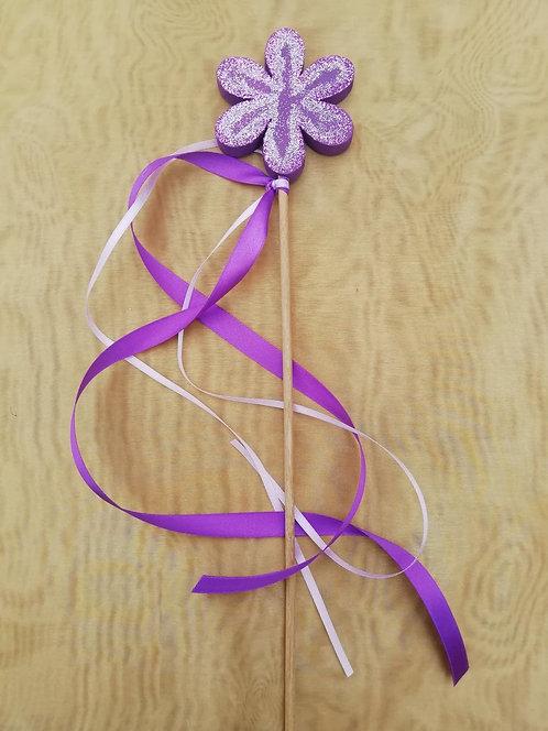 Baguette magique fleur violette