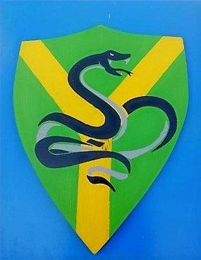 Serpent sur fond vert