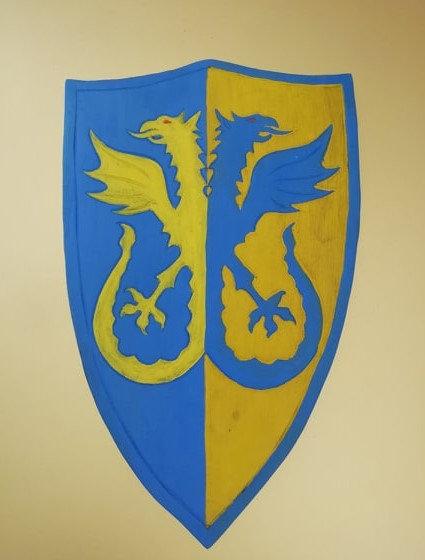 Duo de griffon jaune et bleu