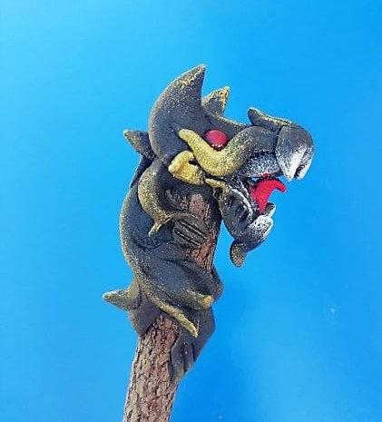 Crayon dragon noir