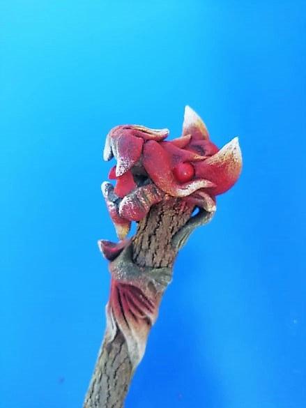 Crayon dragon rouge