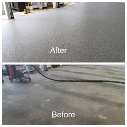 Epoxy Flooring - before and after