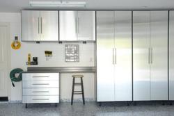 stainless steel garage cabinet installation