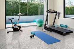 interior gym with epoxy floors