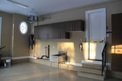 garage storage and epoxy flooring