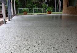 back patio epoxy application