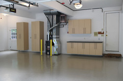 epoxy floors and garage cabinets