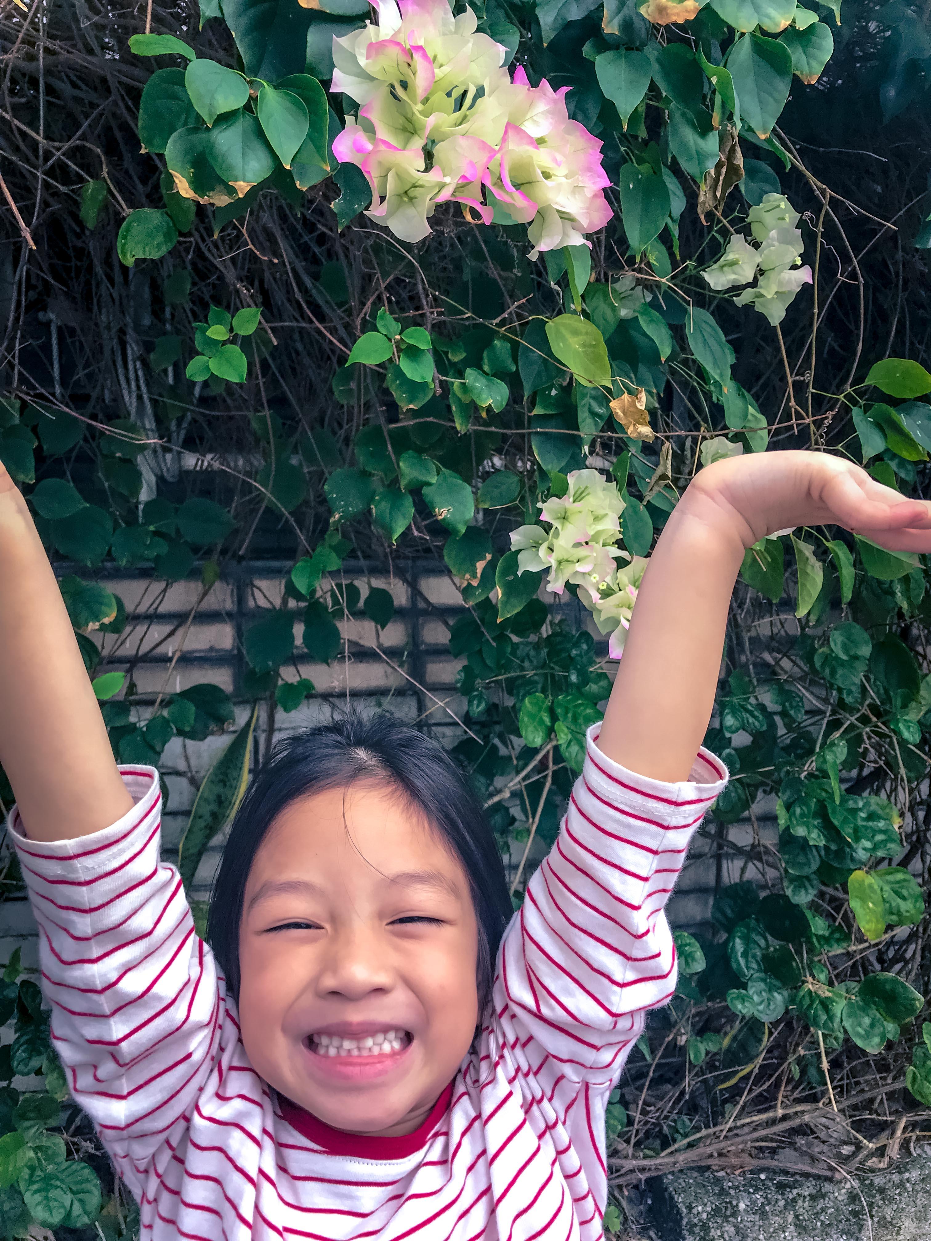 廖曉彤_與妹妹前往公園的路上,總有花群圍繞著喜悅感