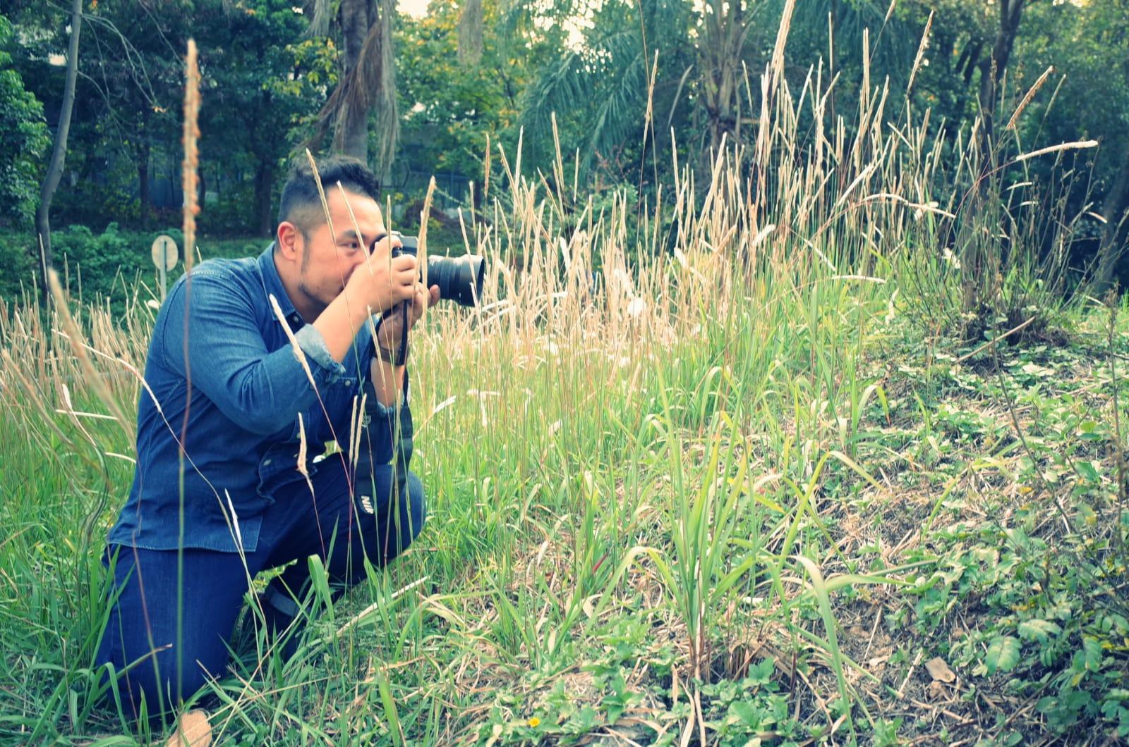 鍾穎雅_我的肥爸去到那裡也會拍照, 他在路邊看到少少的芒草, 也能拍得很漂亮呢!