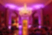 Purple moodlighting at Archerfield House