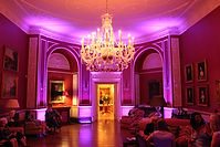 Purple moodlighting at Archerfield House