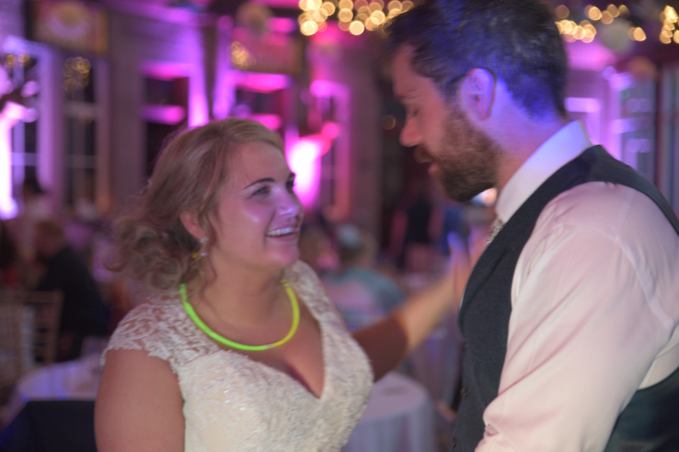 Errol Park bride and groom