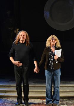 Con Angela Finocchiaro a Genova