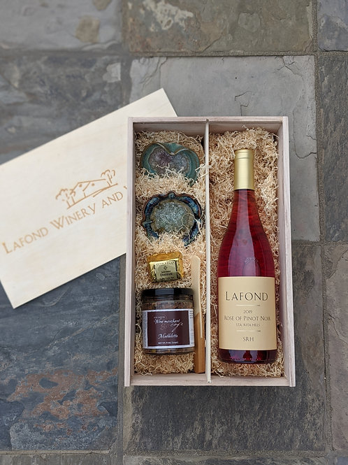 Engraved Wood Gift Box (Wine Sold Separately)