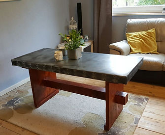Zinc Topped Dinning Table
