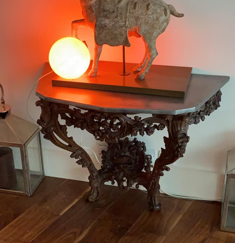 Ornate Table with Zinc Top