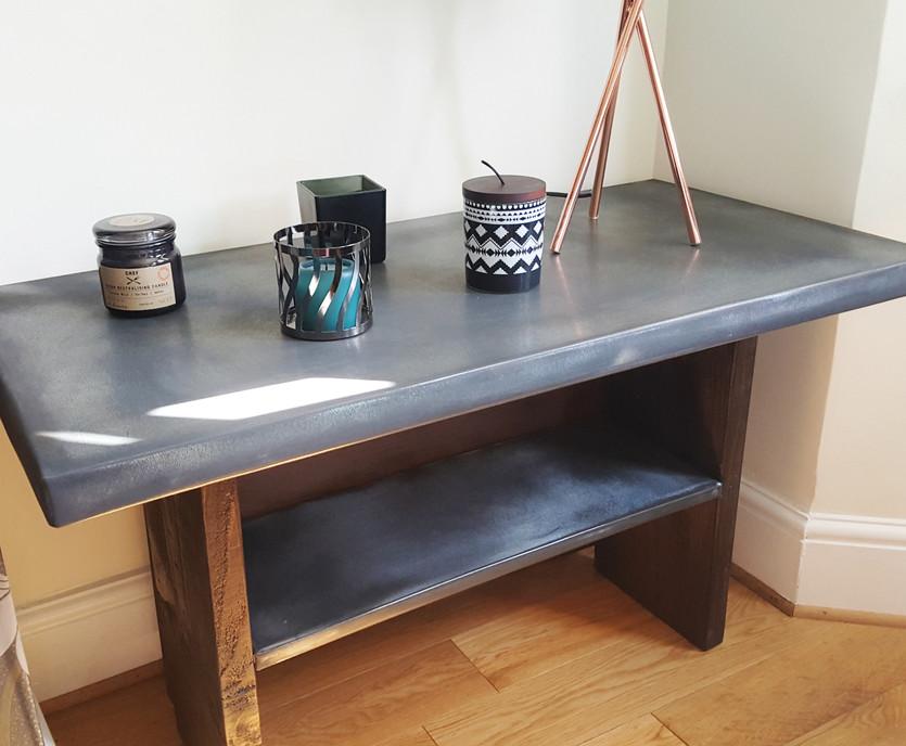 Bespoke coffee table with shelf