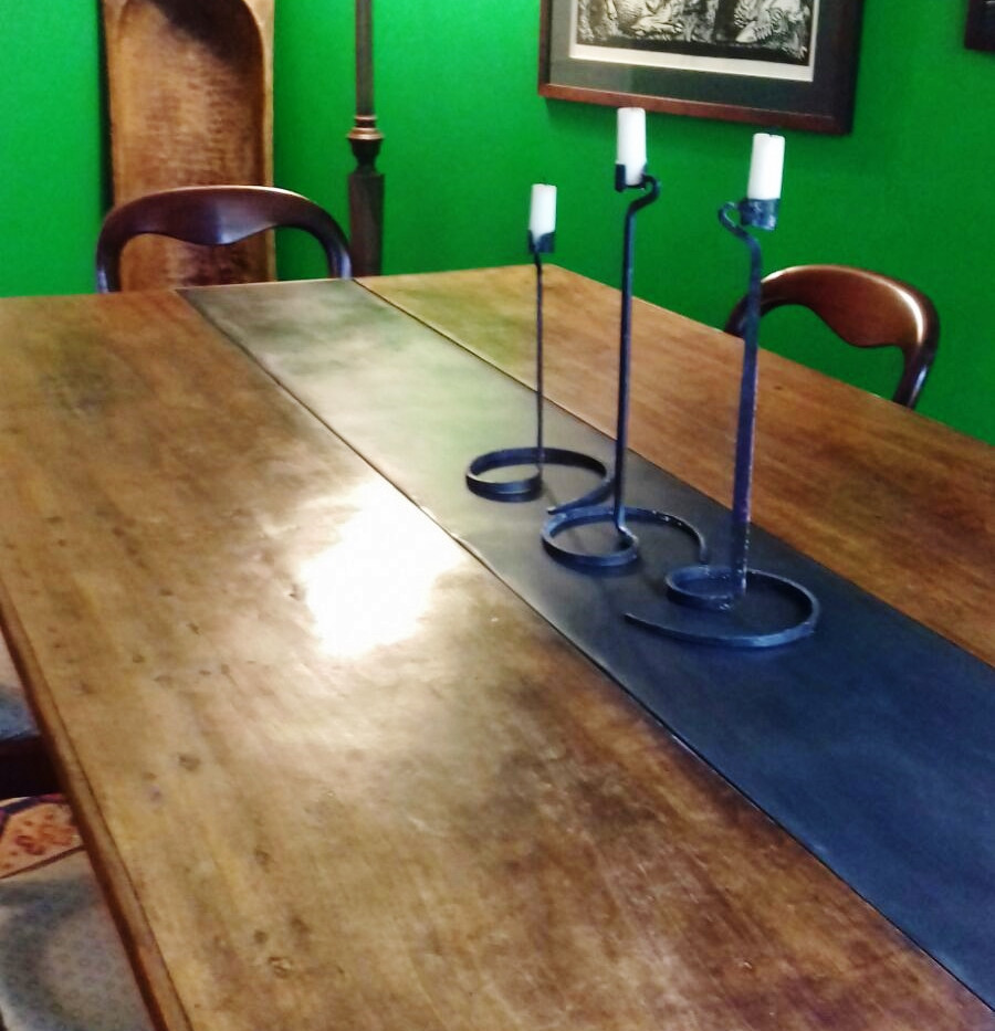 Dining Table with Zinc Panel