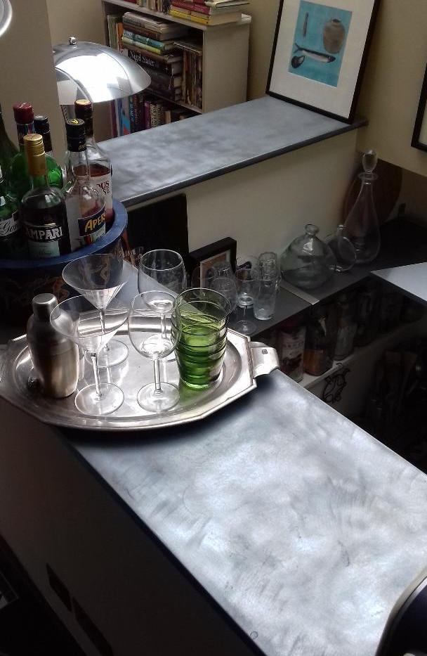Zinc counter top
