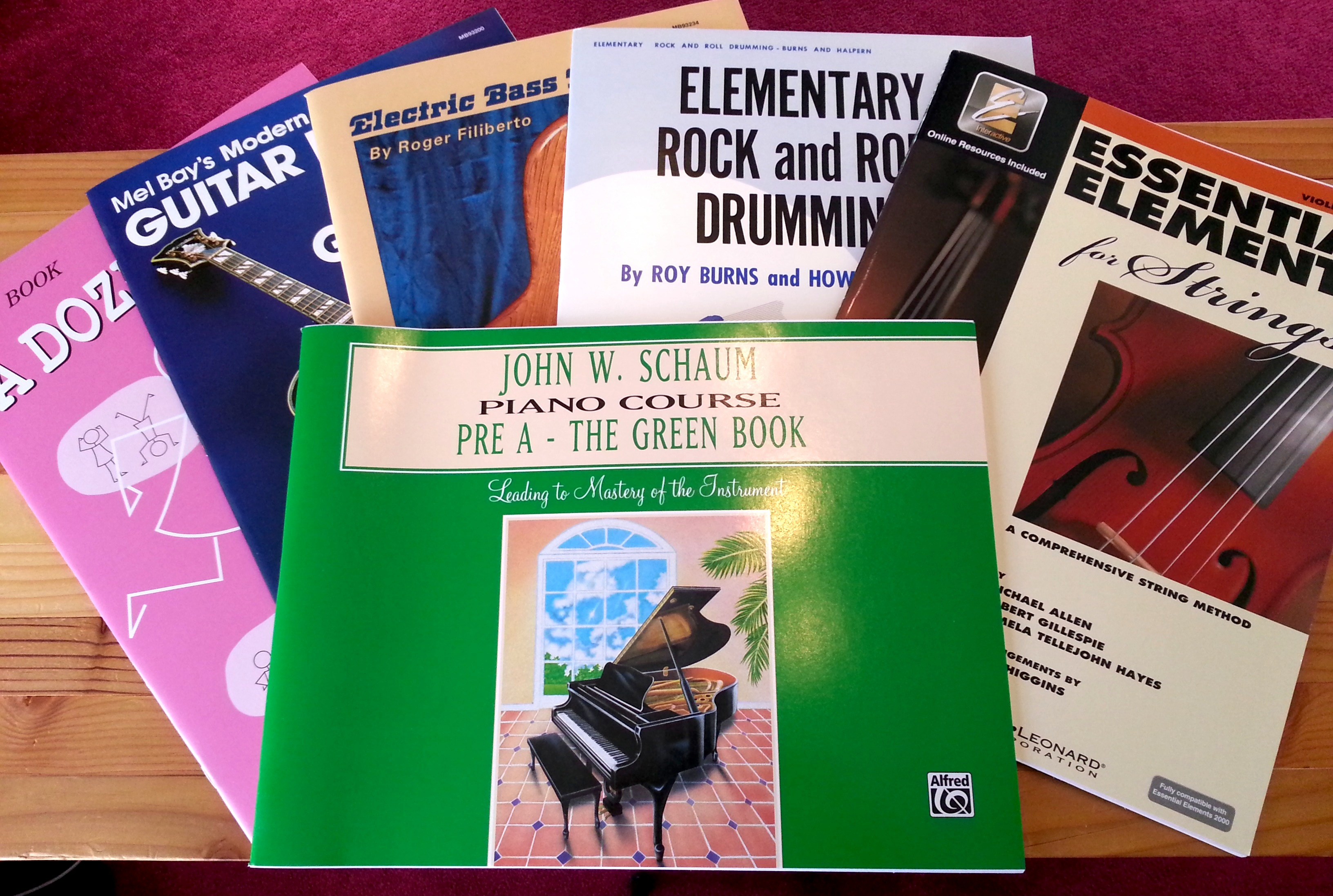 Some of our lesson books