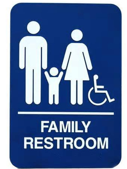 "9""X6"" Family Restroom - Wheelchair Accessible"