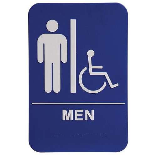 "9""X6""  Men's Restroom - Wheelchair Accessible"