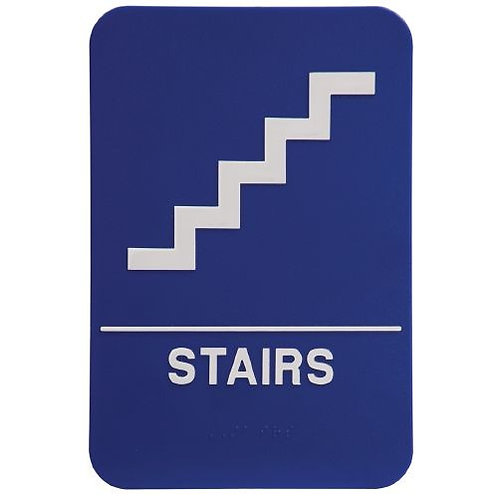 """9""""X6"""" Stairs Signage"""