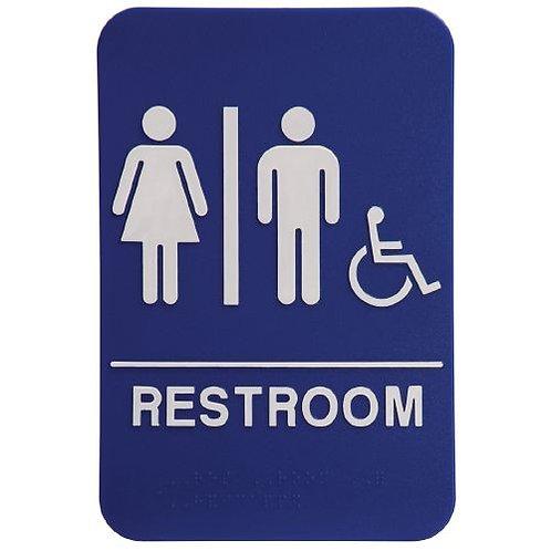 "9""X6"" Unisex Restroom - Wheelchair Accessible"