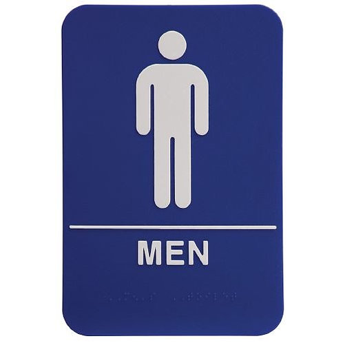 """9""""X6"""" Men's Restroom"""