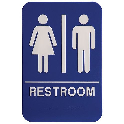 "9""X6"" Unisex Restroom"