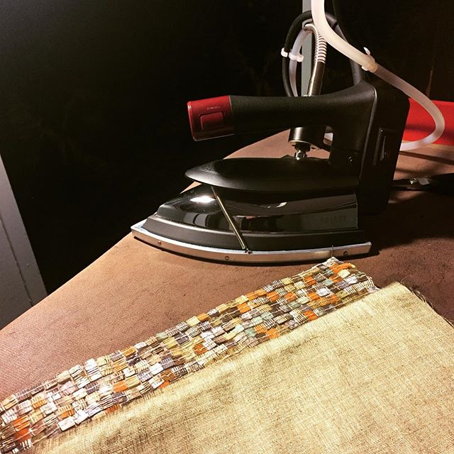 Santa brought Kimmy a new iron 🎄#hotsteam #wawak #khymanyostudio #dontironoverthe sequins