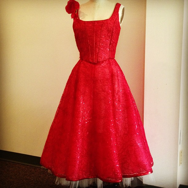 #Khymanyo Studio designer#Kim Vanyo will have a #ruby red gown to wear for the #SPAC Gala #RubyBall