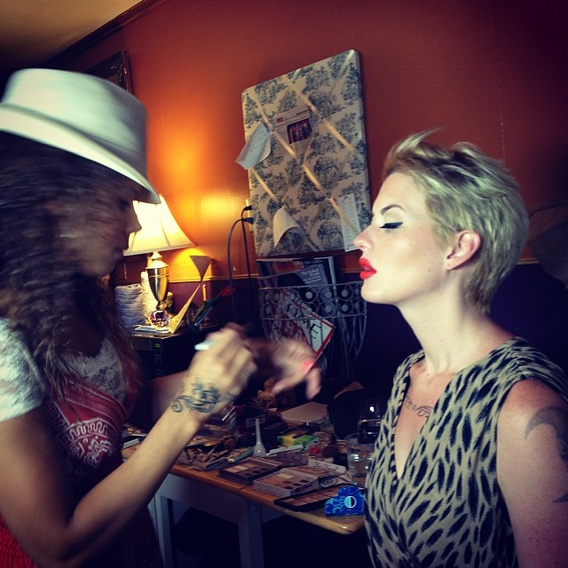#studio217claireharris working her magic on #colleenmycha at #khymanyostudio #kimvanyo #beekmanstree